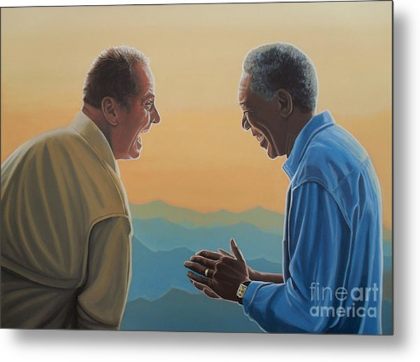 Jack Nicholson And Morgan Freeman Metal Print