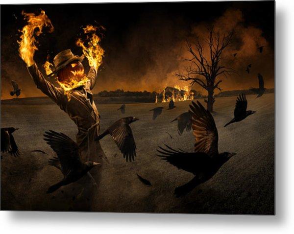Jack-o\'-scarecrow Metal Print