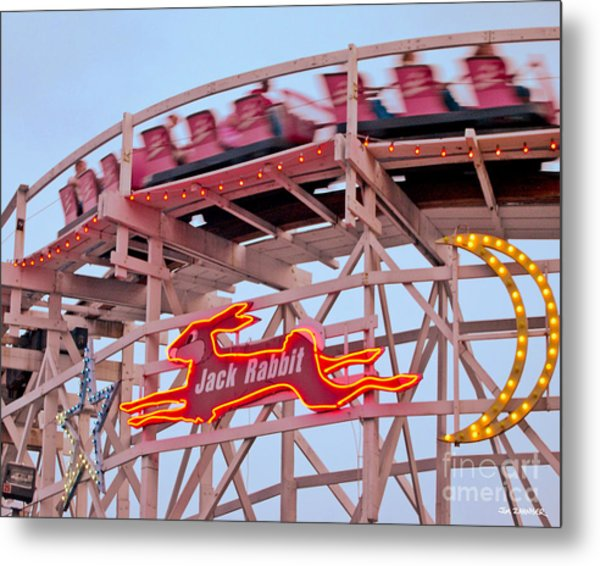 Jack Rabbit Coaster Kennywood Park Metal Print