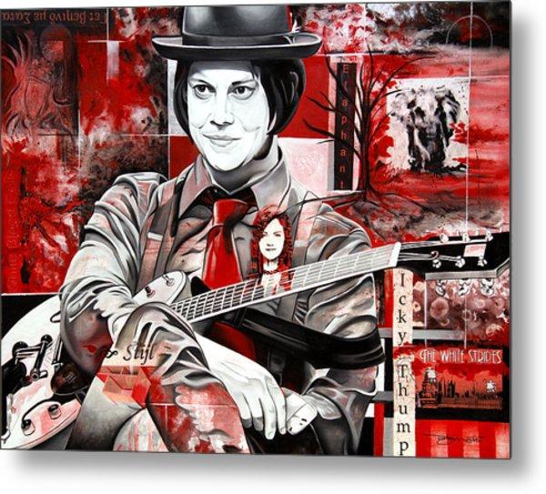 Jack White Metal Print