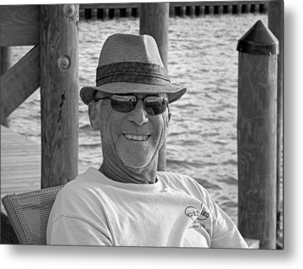 Jackie Sitting On The Dock Of The Bay Metal Print