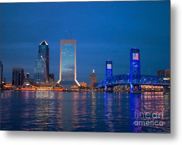 Jacksonville Nightscape Metal Print