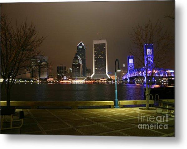 Jacksonville Riverwalk Night Metal Print