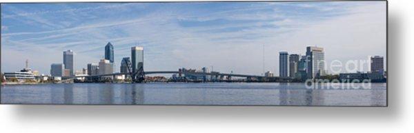 Jacksonville Skyline Panoramic Metal Print