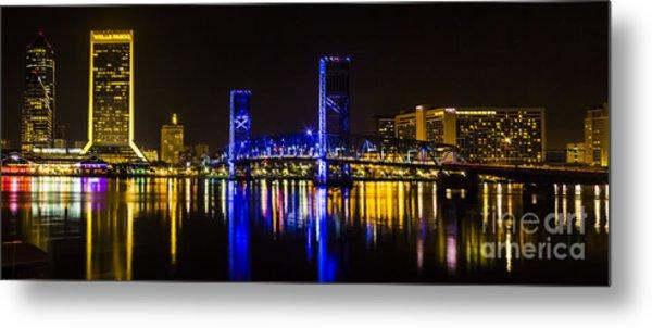 Jacksonville Skyline Metal Print