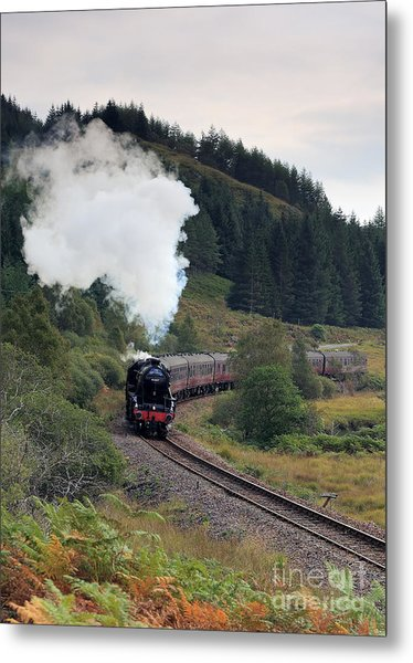 Jacobite Steam Train Metal Print by Maria Gaellman