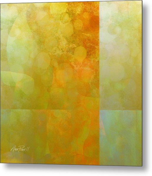 Jade And Carnelian Abstract Art  Metal Print by Ann Powell