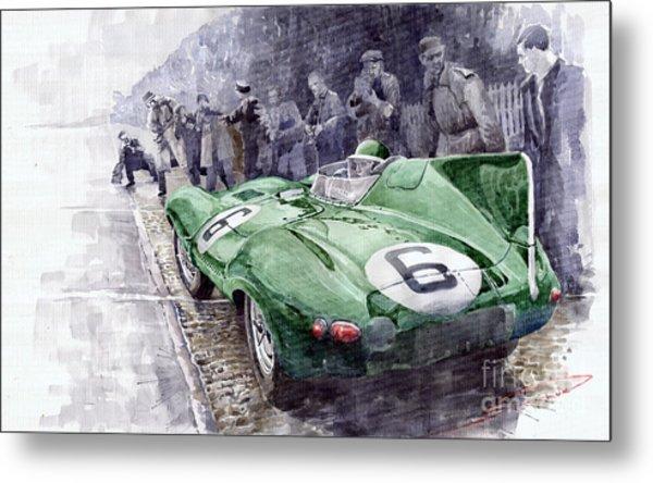Jaguar D-type  1955 Le Mans  Metal Print