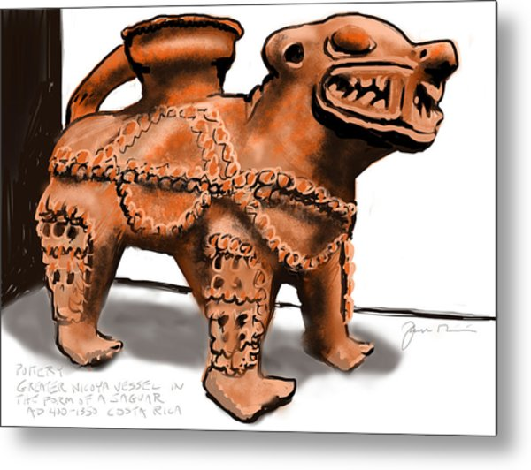 Jaguar Pottery Metal Print