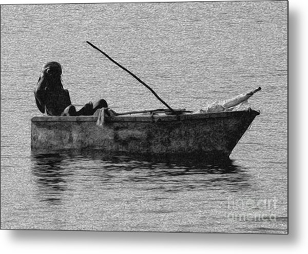 Jamaican Fisherman In Ocho Rios Jamaica Metal Print