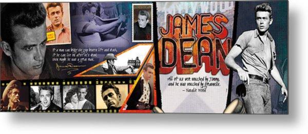 James Dean Panoramic Metal Print