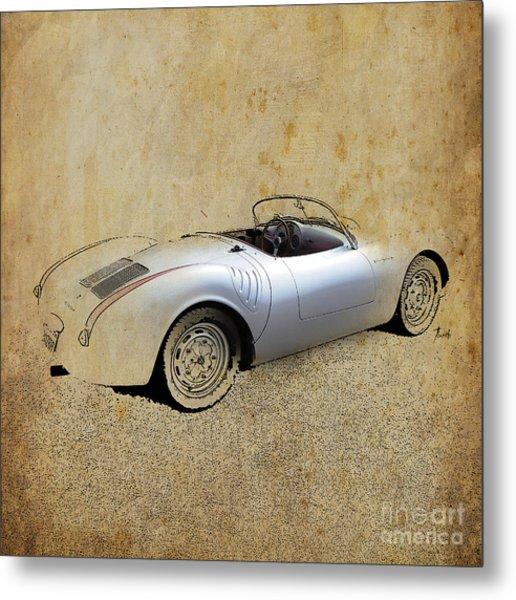 James Dean Porsche 550 Spyder Metal Print