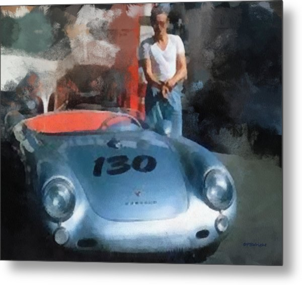 James Dean With His Spyder Metal Print