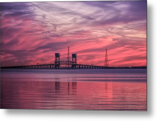 James River Bridge At Sunset Metal Print