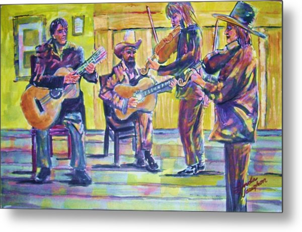 Jammin Metal Print by Linda Vaughon