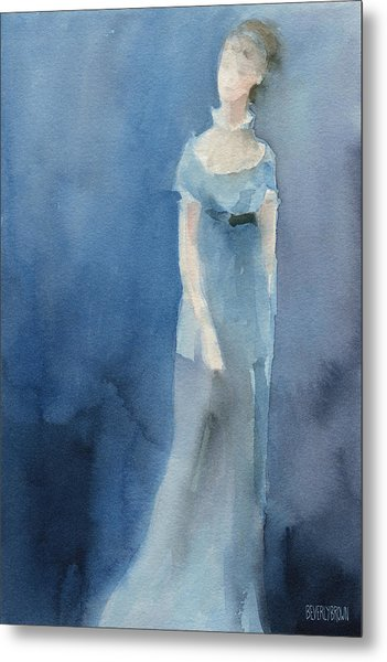 Jane Austen Watercolor Painting Art Print Metal Print