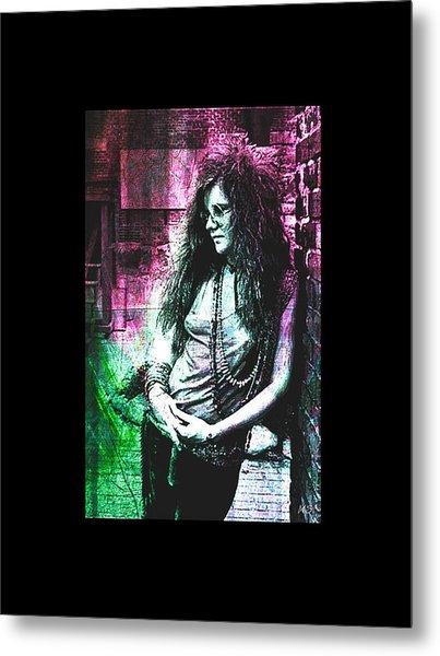 Janis Joplin - Pink Metal Print