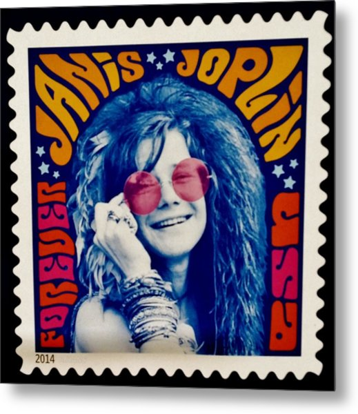 Metal Print featuring the photograph Janis Stamp In A Groovy Vibe by Rob Hans