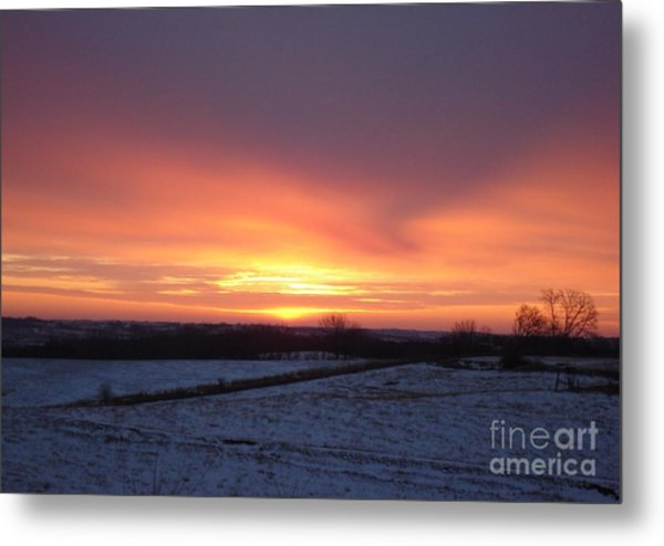 January Sunrise Metal Print