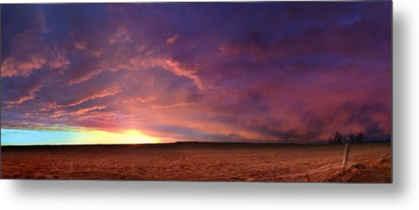 January Sunset With Cold Front Metal Print
