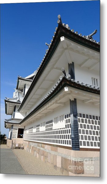 Japanese Castle Close-up Metal Print by David Hill
