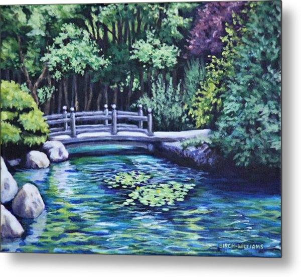 Japanese Garden Bridge San Francisco California Metal Print