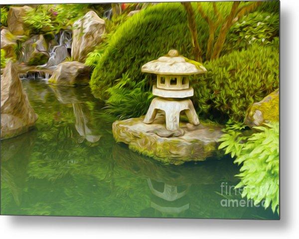 Japanese Garden Metal Print by Nur Roy