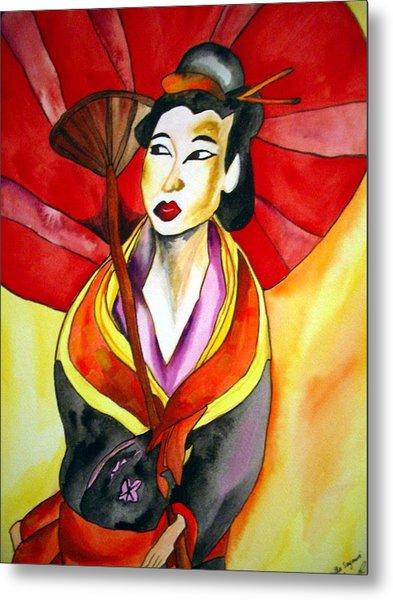 Japanese Geisha Metal Print by Sacha Grossel