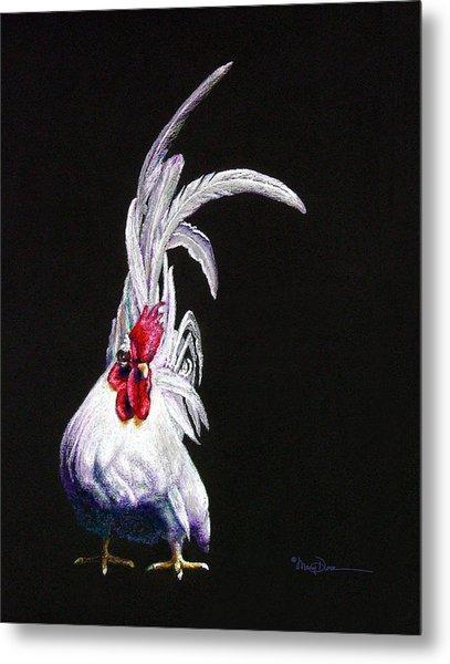 Japanese Rooster Metal Print
