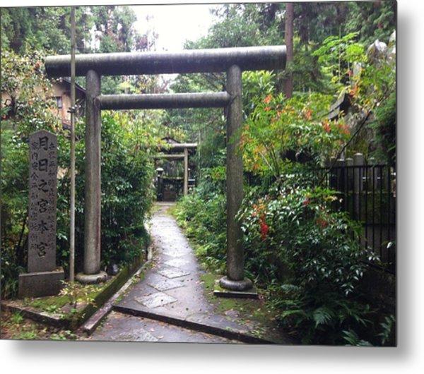 Japanese Temple Passage Metal Print
