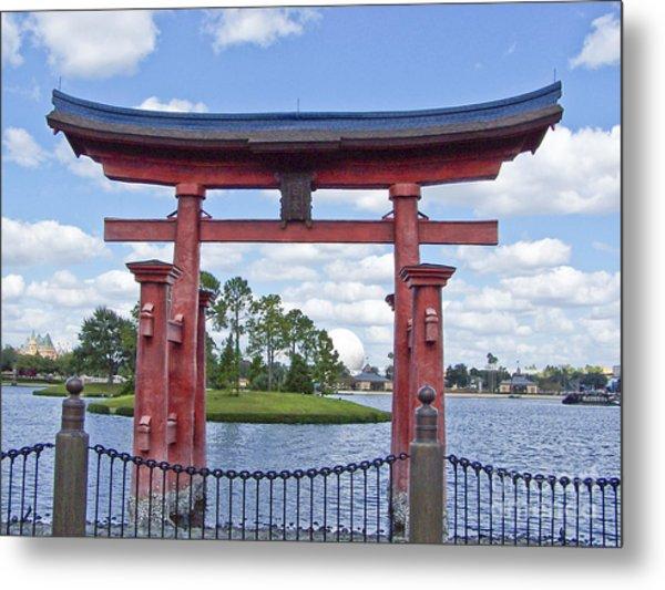Japanese Torri Gate At Epcot Metal Print