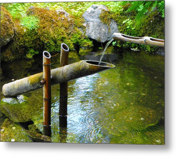 Japanese Water Fountain Metal Print