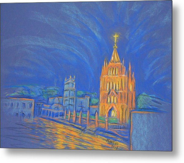 Jardin In The Parroquia Metal Print by Marcia Meade