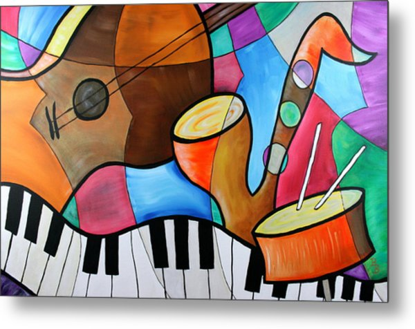 Jazz Band Inspired By Eric Waugh Metal Print