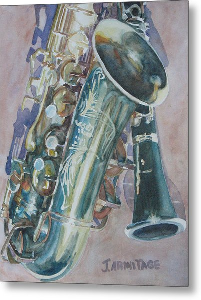 Jazz Buddies Metal Print