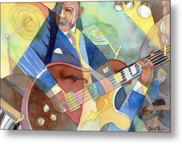 Jazz Guitarist Metal Print