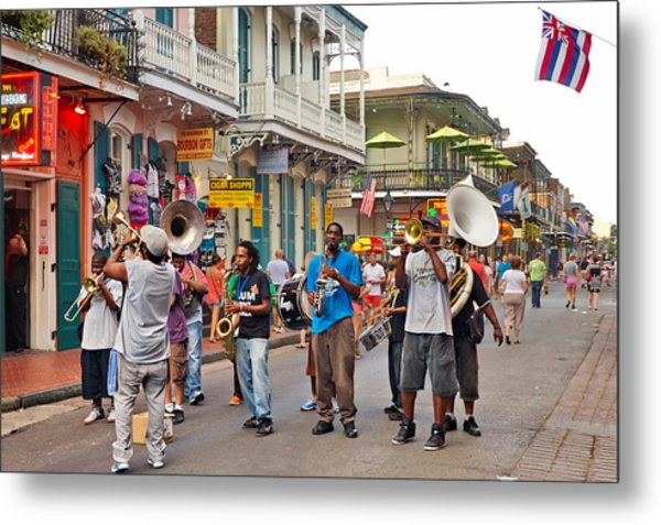 Jazz It Up On The New Orleans Summer Streets Metal Print