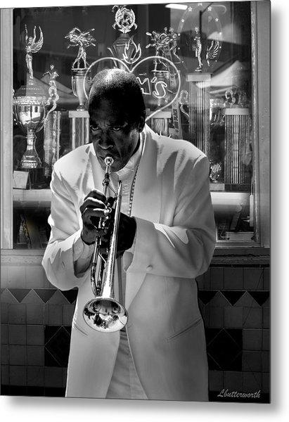 Jazz Man Metal Print by Larry Butterworth