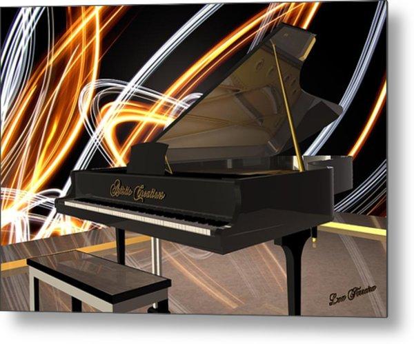 Jazz Piano Bar Metal Print