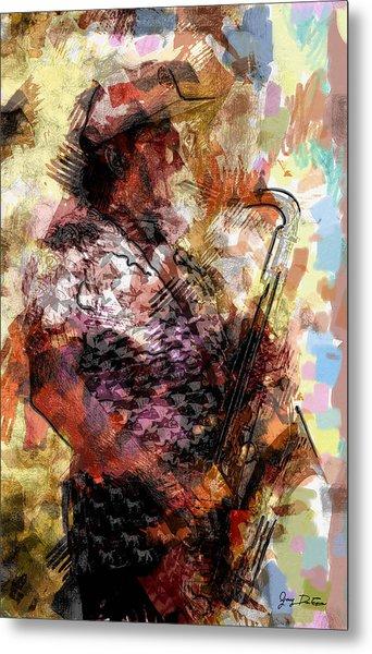 Jazz Sax Player Metal Print