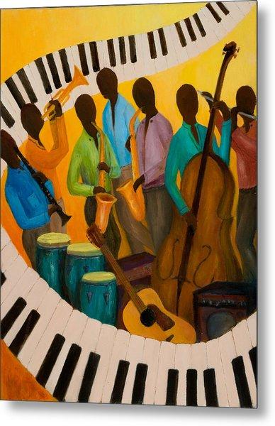 Jazz Septet Metal Print by Larry Martin