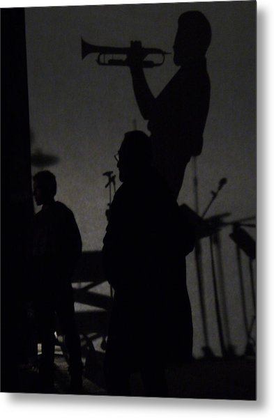 Jazz Shadows Metal Print