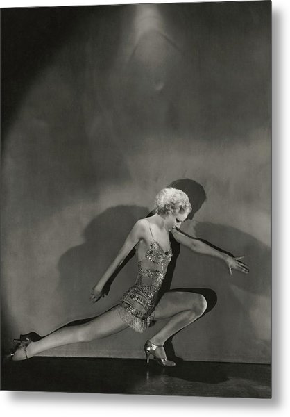 Jean Barry In Evergreen Metal Print by George Hoyningen-Huene