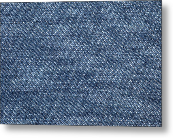 Jeans Texture Metal Print by Andrew Dernie