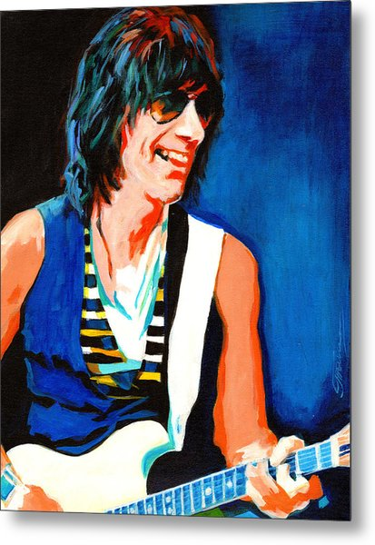Jeff Beck. Brush With The Blues Metal Print