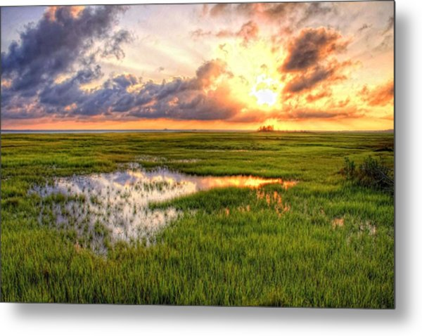 Jeffers Sunset Reflection Metal Print
