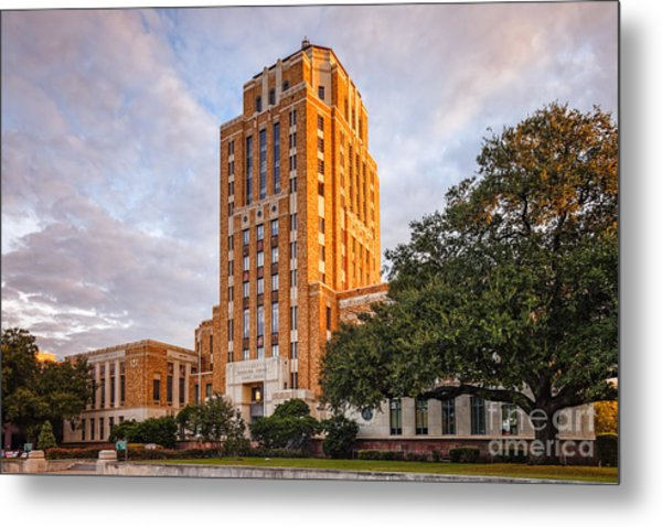 Jefferson County Courthouse At Sunrise - Beaumont East Texas Metal Print