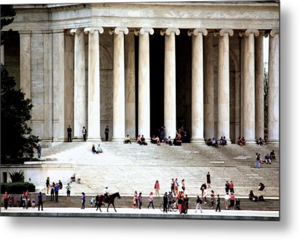 Jefferson Memorial--a Day In The Life Metal Print