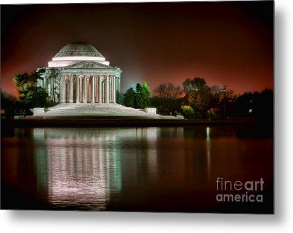Jefferson Memorial At Night Metal Print