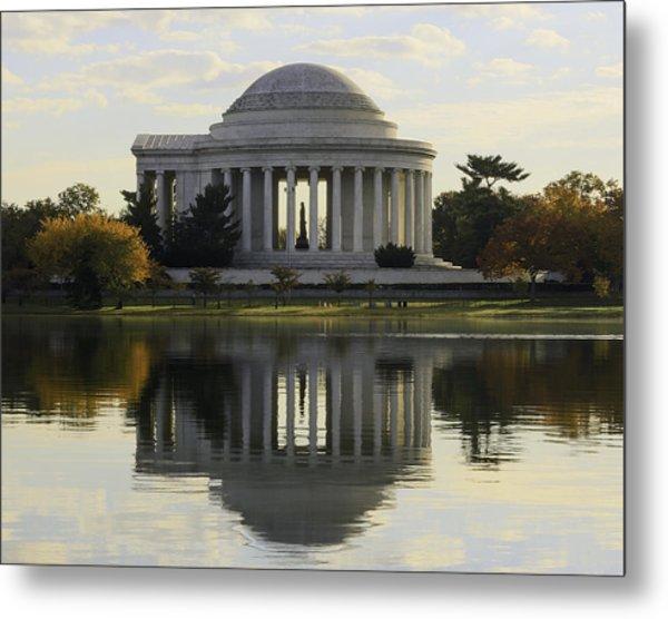 Jefferson Memorial In Autumn Metal Print